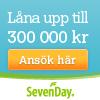 Hos Sevenday Finans kan man låna upp till 300 000 kr