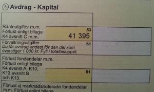 Avdrag för ränteutgifter i deklarationen
