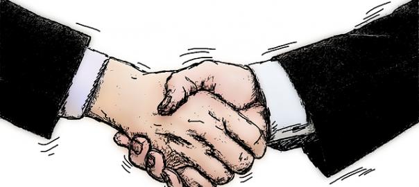 Skaka hand och låna tillsammans