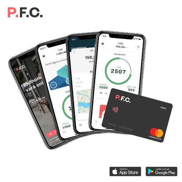 PFC app och Mastercard
