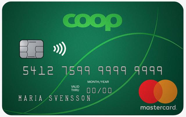Coop Mastercard kreditkort med blipp